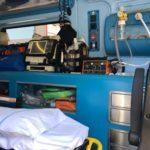 particolare su kit rianimazione e ossigeno interno autombulanza